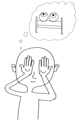 Augen-Spiel: Die Augen schlafen legen